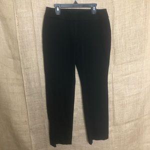 Loft Petite Trousers Black Career Pants 4P Solid